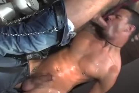 Three homosexual Pornstars All nailing together